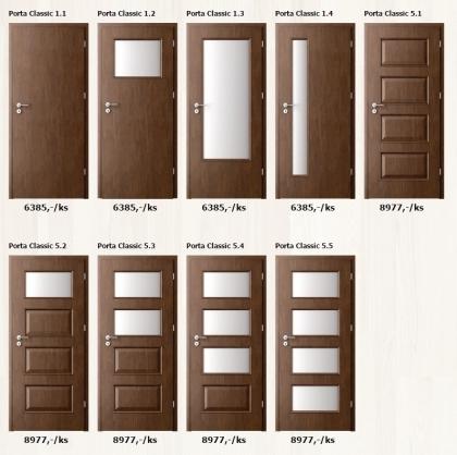Dýhované interiérové dveře Porta Clasic - www.plancher.cz