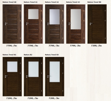 Dýhované interiérové dveře Porta Natura Trend - www.plancher.cz