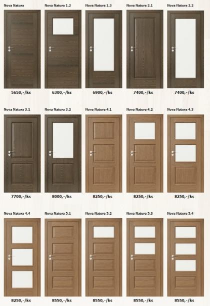 Dýhované interiérové dveře Porta Natura - www.plancher.cz