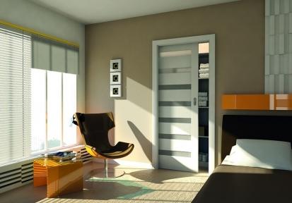 Fóliované interiérové dveře Verte