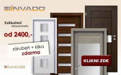 Prosklené interiérové dveře Invado