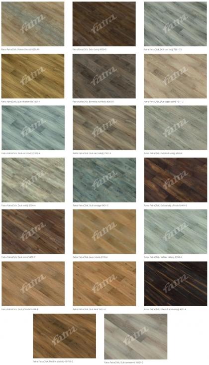 Vinylová podlaha Fatraclick - dekory