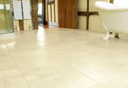 Vinylová podlaha v koupelně