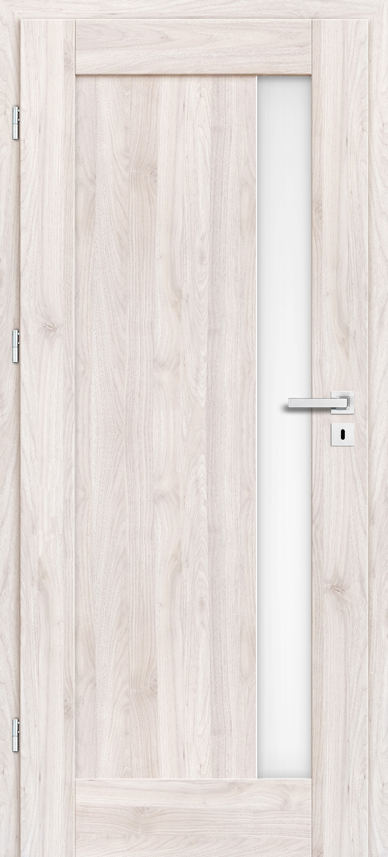 Interiérové dveře Erkado Frézie ve fólii + s obkladem kovové zárubně