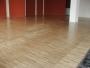 Průmyslová mozaika - jasan - ukázka pokládky podlahy