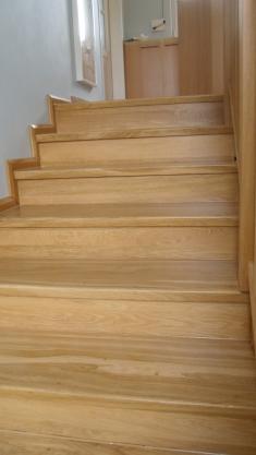 výroba dubového schodiště